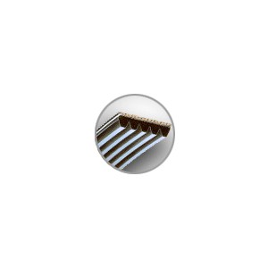 COURROIES STRIEES PM - PAS 9,4<br>mm