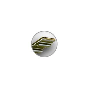 COURROIES CRANTEES / DENTEES L<br>NEOPRENE (PAS 9.52 mm)