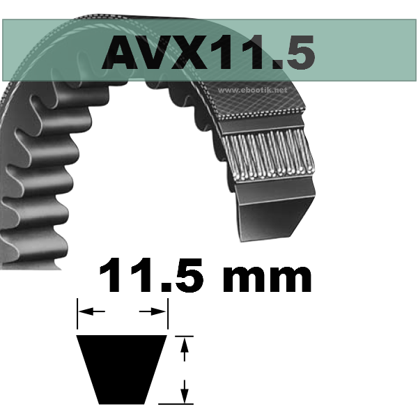 COURROIE AVX11,5x695 mm La/Le