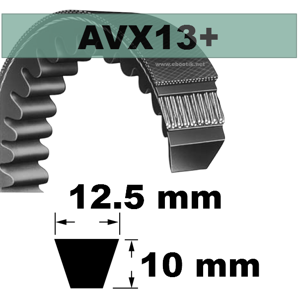 COURROIE AVX13x1700 mm La/Le Version +