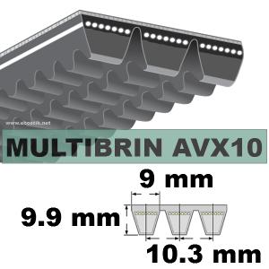 COURROIE 2xAVX10x1550 mm La/Le
