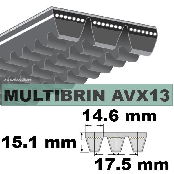 COURROIE 2xAVX13x1375 mm La/Le