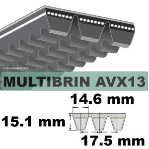 COURROIE 2xAVX13x1500 mm La/Le