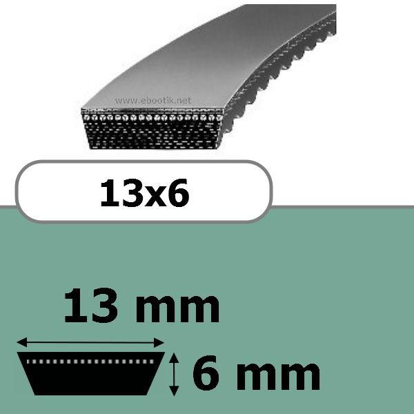 COURROIE VARIATEUR 13x6x750