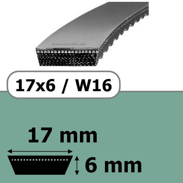COURROIE VARIATEUR 17x6x536 = 560W16